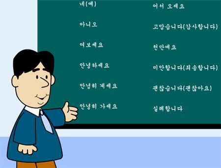 Các câu nói thông dụng bằng tiếng Hàn