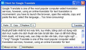 Dịch văn bản tiếng anh của Google