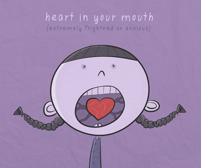 Heart in your mouth