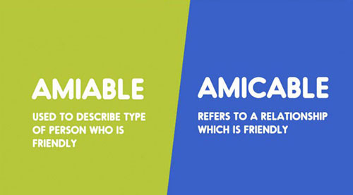 Amiable - Amicable