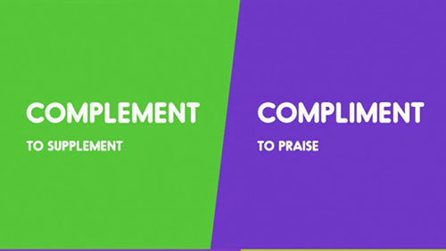 Complement - Compliment